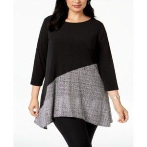 ALFANI Asymmetric Women's Tunic Size 1X